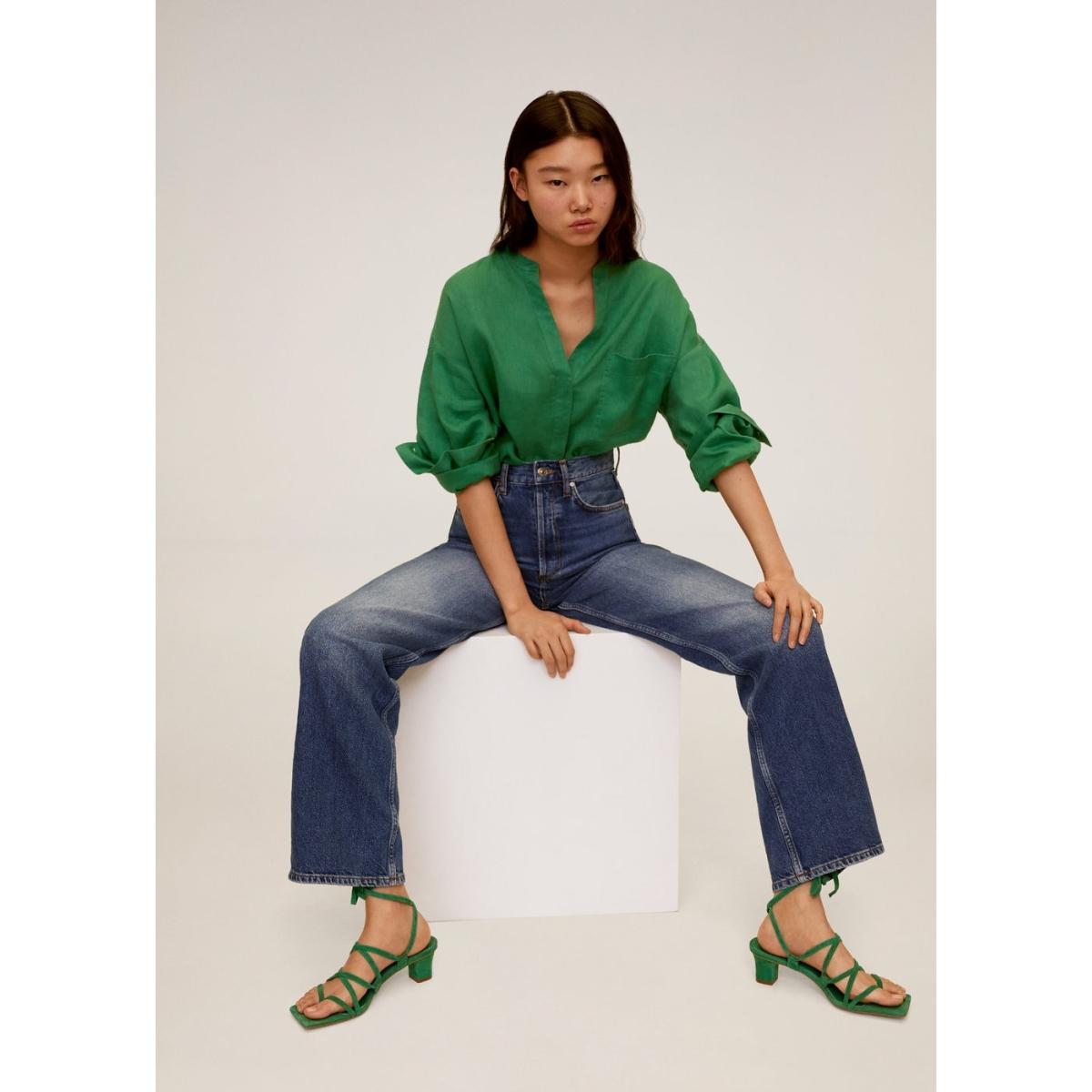 linnen overhemd met maokraag 67087652 mango blouse 43