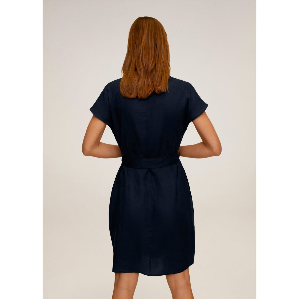 linnen jurk met ceintuur 67017684 mango jurk 56
