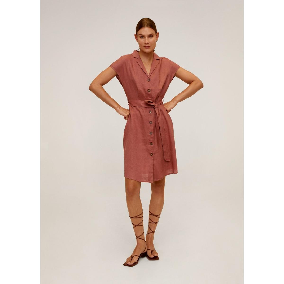 linnen jurk met ceintuur 67017684 mango jurk 83