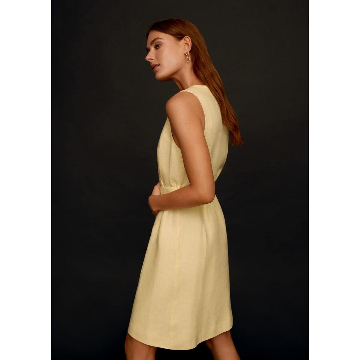 linnen jurk met ceintuur 67029025 mango jurk 11