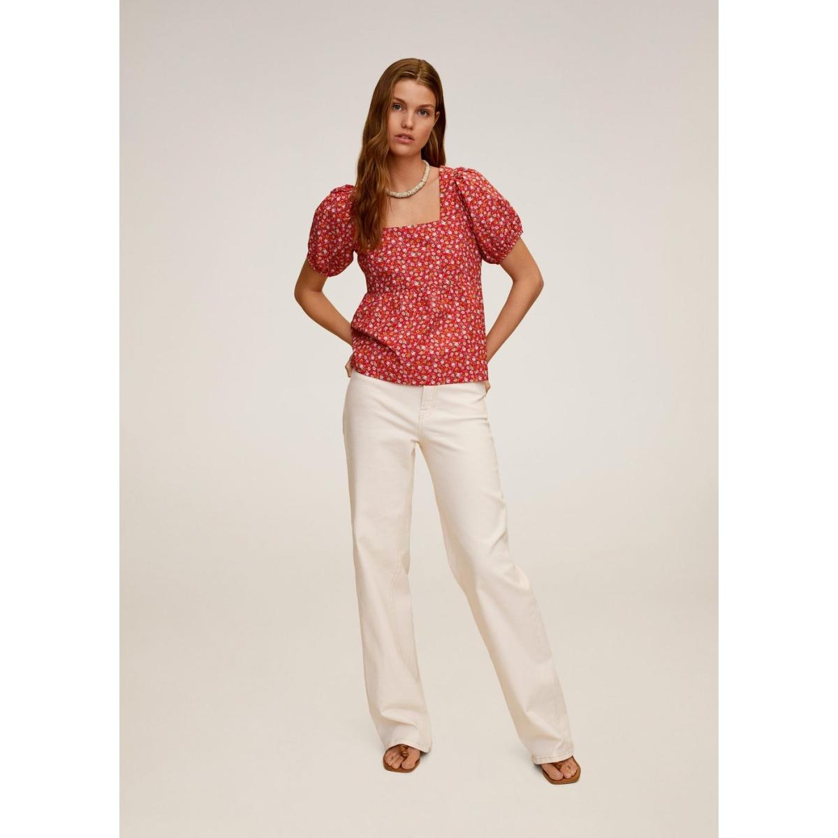 gebloemde katoenen blouse 67039051 mango blouse 74