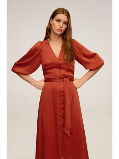 midi jurk met knopen 67986708 mango jurk 87