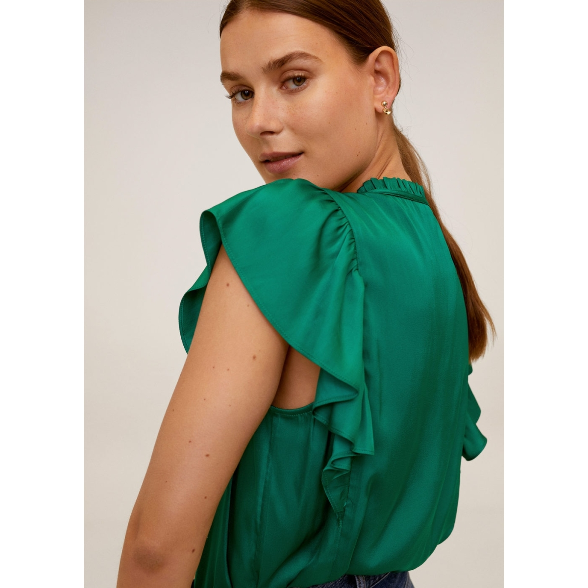 blouse met ruche 67027695 mango blouse 43