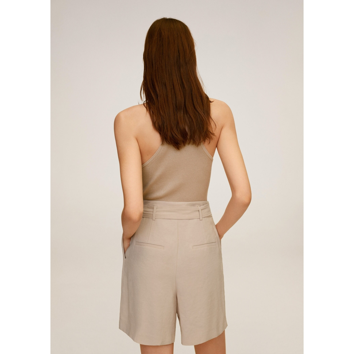 high waist short met strik 77030548 mango korte broek 08