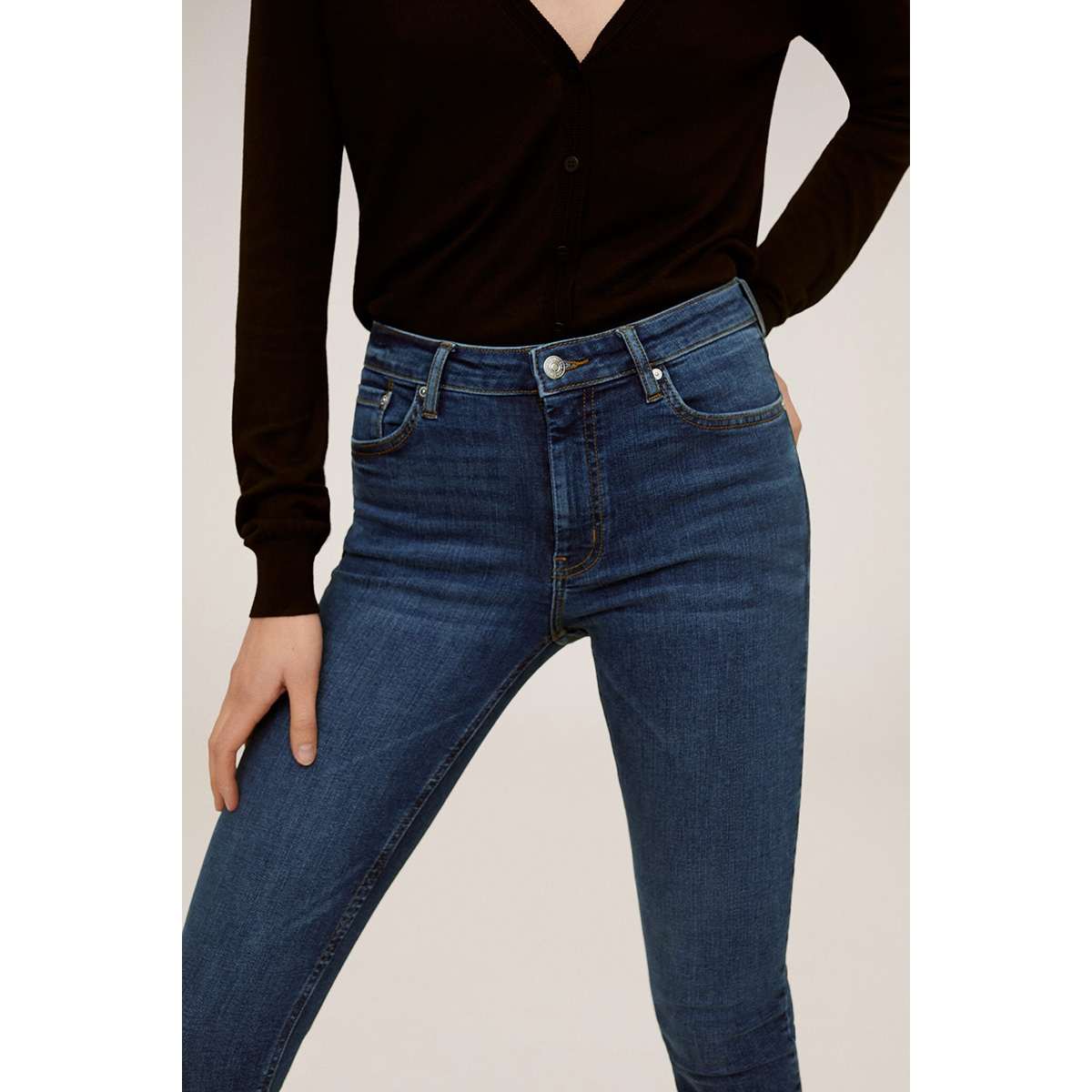 isa crop skinny jeans 77030513 mango jeans tejano oscuro