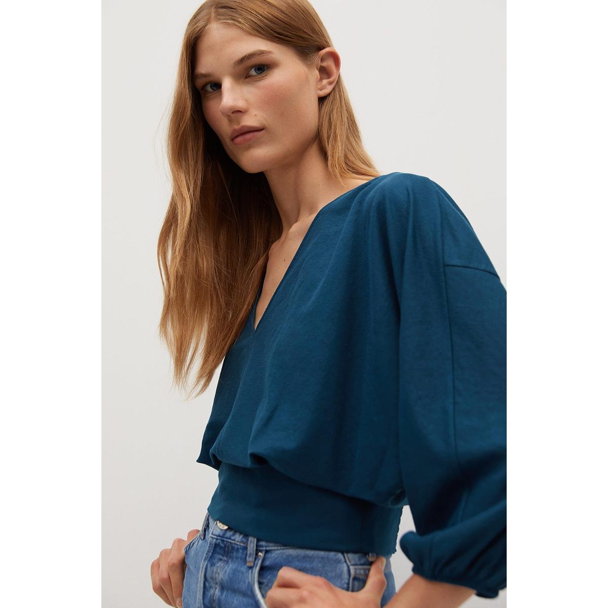 blouse met plooidetail 77024431 mango blouse 57