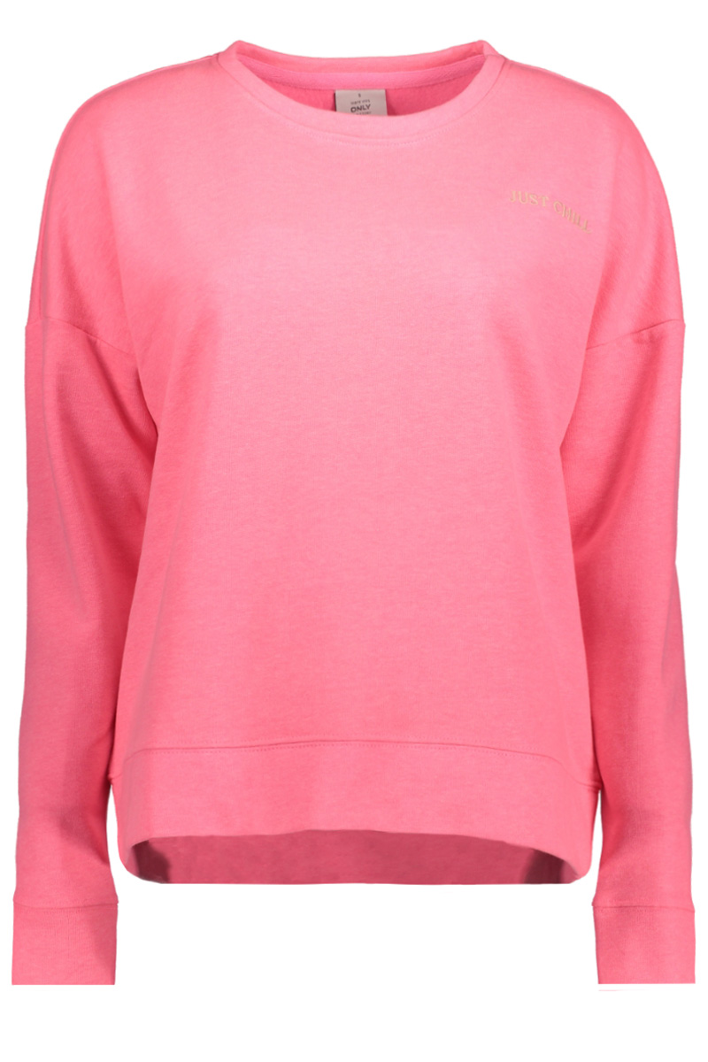 Onljanni l/s loose o neck swt 15152940 only sweater neon pink/just chill