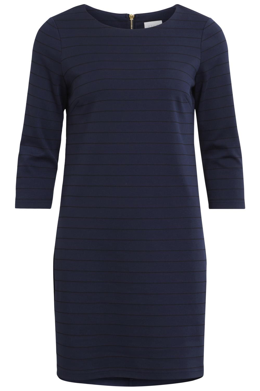 Vila jurk blauw wit